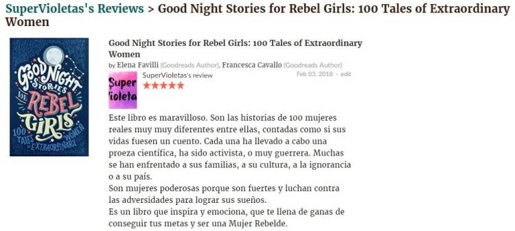 Cuentos de buenas noches niñas rebeldes